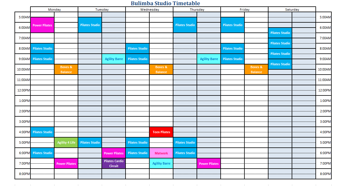 2017 October Timetable